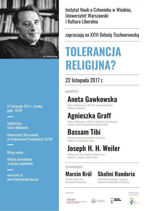 XXVIth Tischner Debate: Religious Tolerance?
