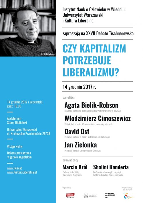 Does capitalism need liberalism? XXVIIth Tischner Debate